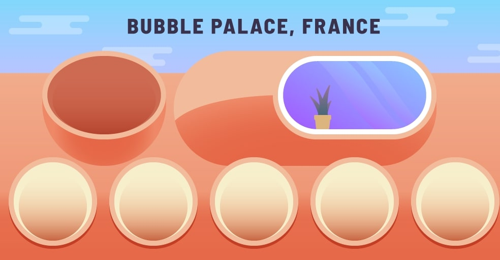 The Bubble Palace house design was built in France