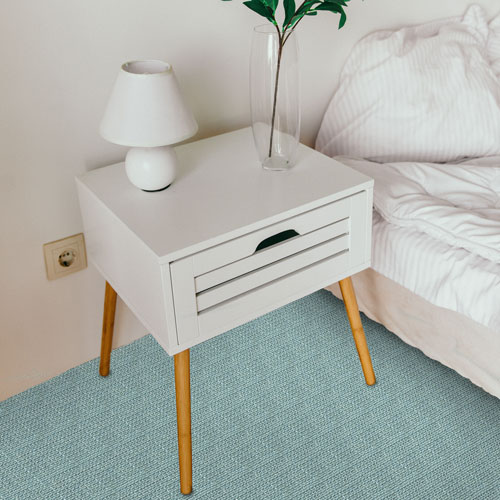 This is a lovely shade of blue designer carpet to use on a bedroom floor