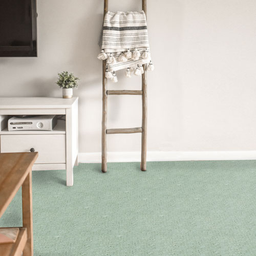 Use the soothing shade of mint green carpet to enhance your bedroom interior design scheme