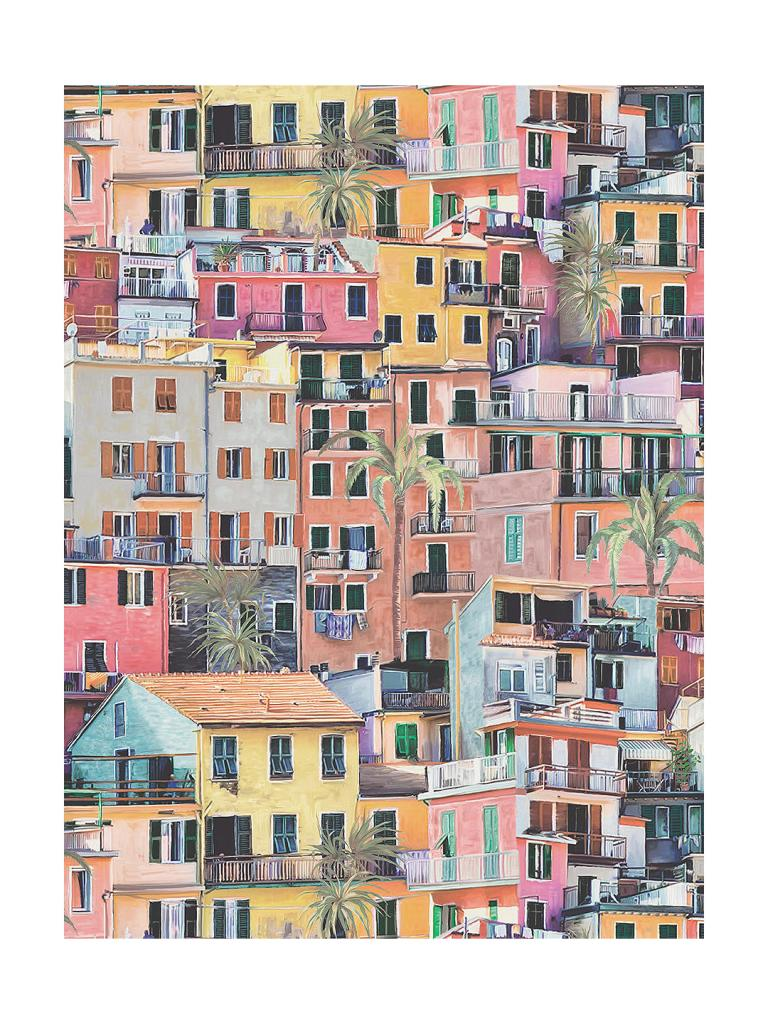 Be transported to the delights of the Cinque de Terre with this colourful Portovenere wallpaper by Osborne and Little