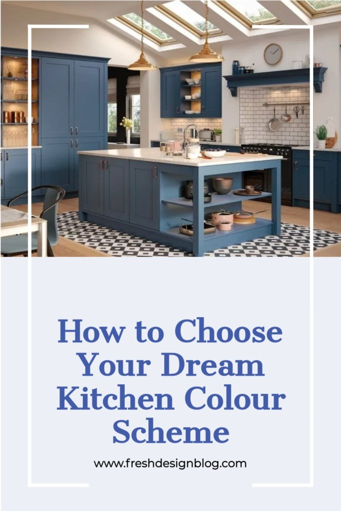 Keen to create your dream kitchen? Discover ideas and inspiration for choosing the perfect colours for your new kitchen in this post on Fresh Design Blog