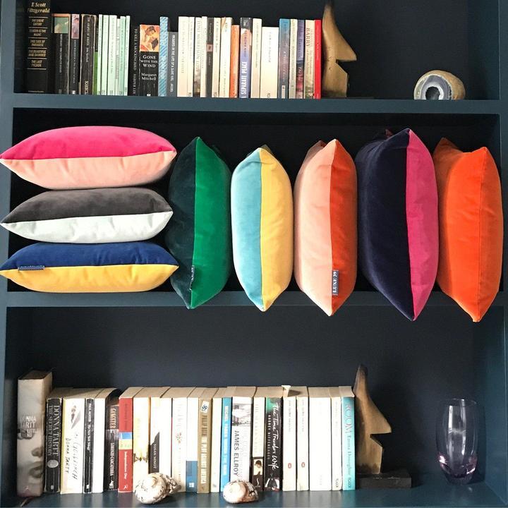 Helen Gilbert Luxe 39 velvet cushions