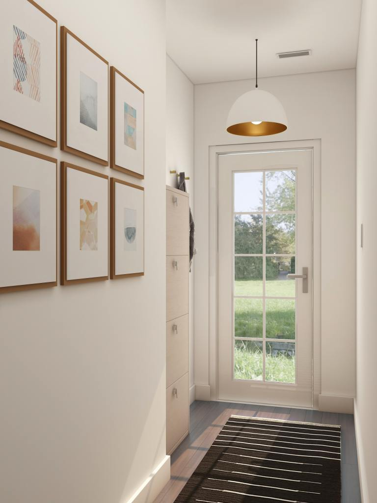 Create a gallery style wall in your hall