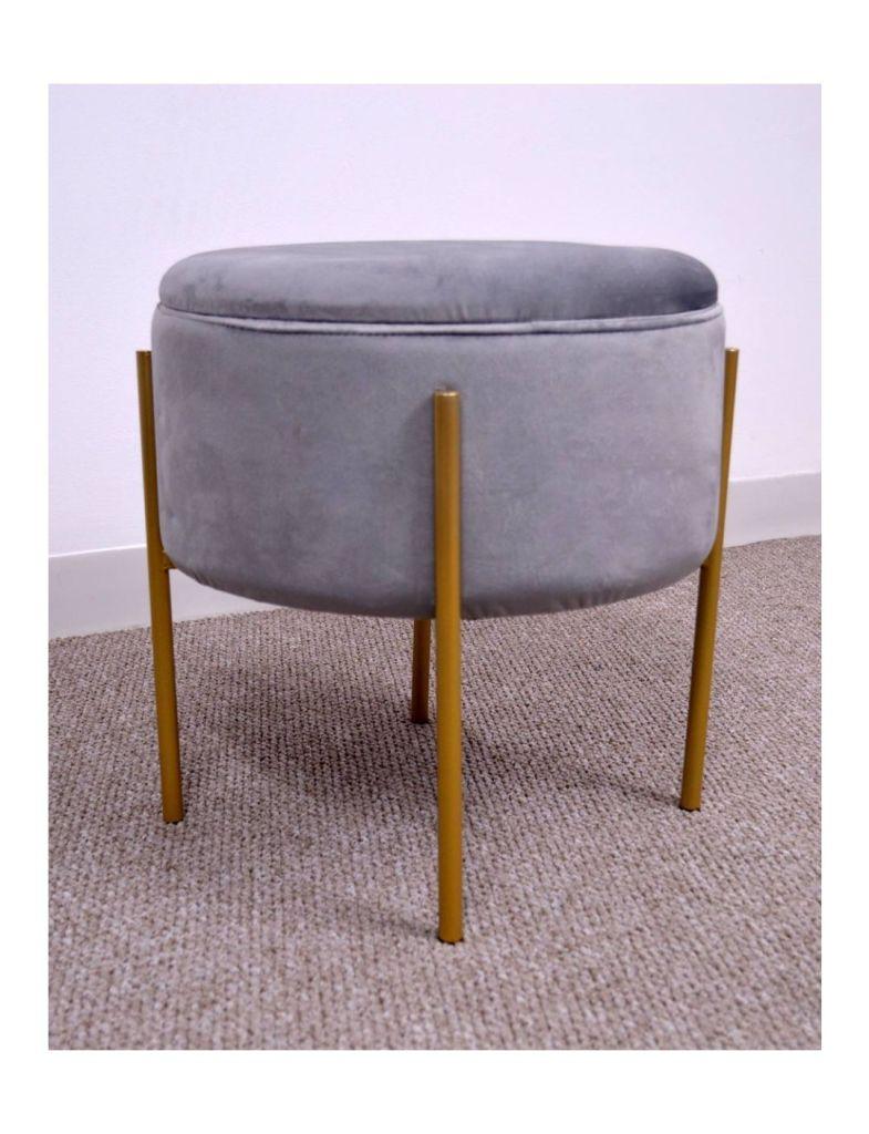 Velvet storage footstool, Sue Ryder
