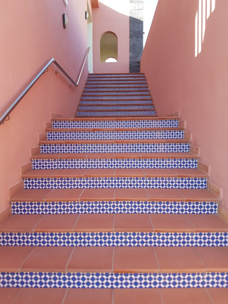 Stunning Spanish colourful tiled stairway