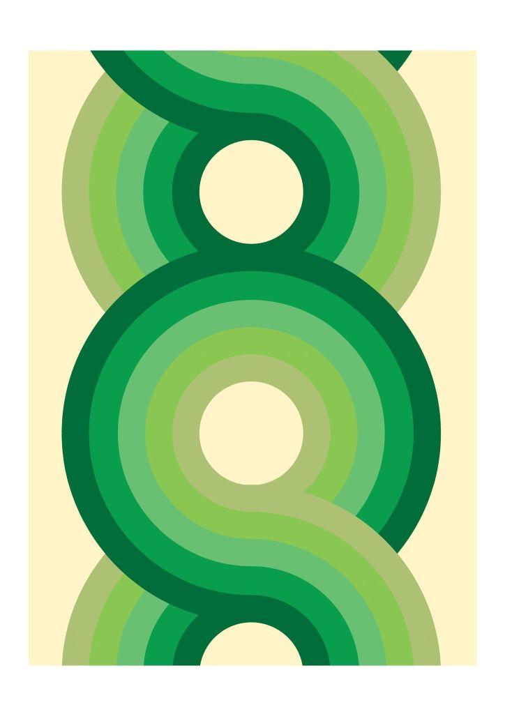 Viper green trend Yootha art print, 70s House Manchester