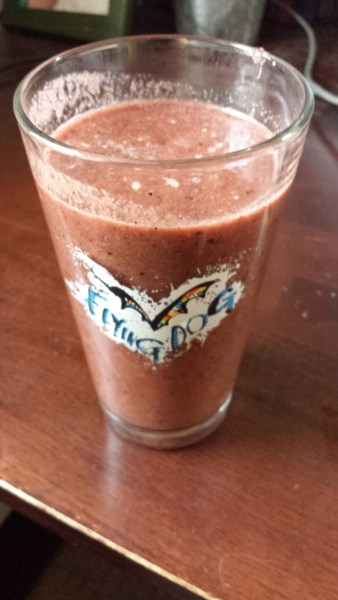 NutriBullet NutriBlast recipe with banana, carrot, kale, berries