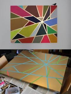 tape painting DIY craft