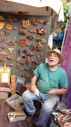 Cleveland Ohio Hessler Street Fair woodcarving woodworking art vendor summer festival