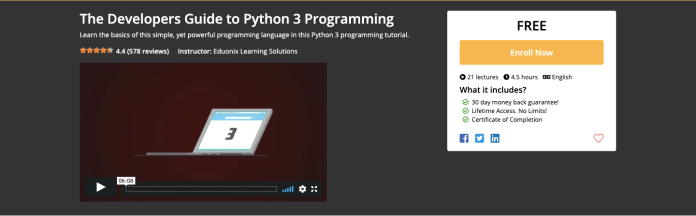Free Python 3 Programming Certification Course