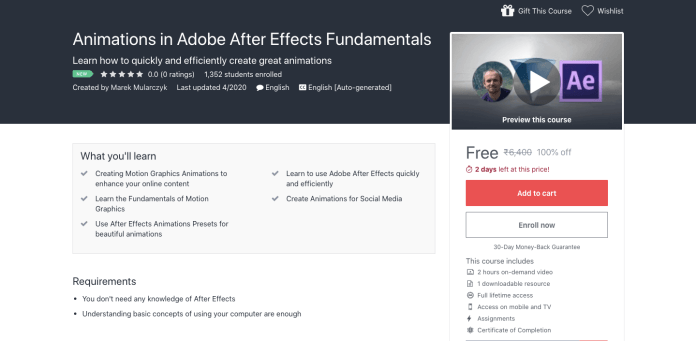 Animations in Adobe After Effects Fundamentals