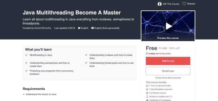 Java Multithreading Become A Master