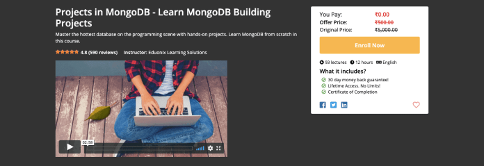 Projects in MongoDB - Learn MongoDB Building Projects