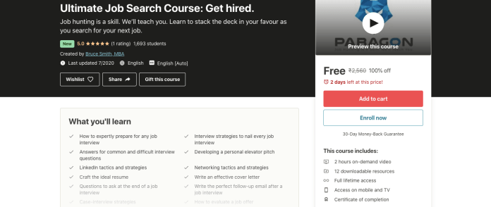 Ultimate Job Search Course: Get hired.