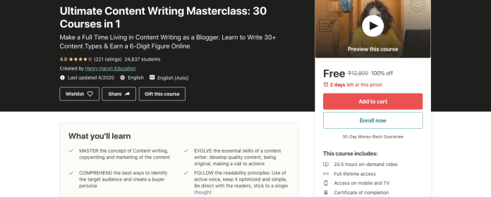 Ultimate Content Writing Masterclass: 30 Courses in 1