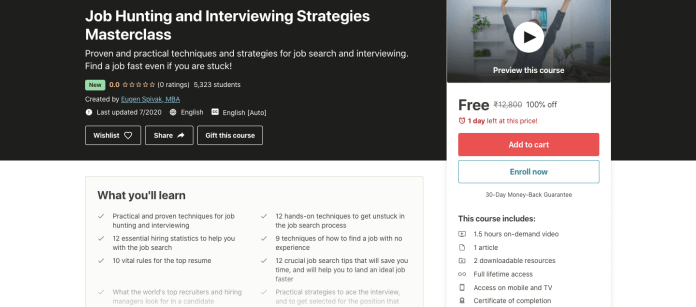 Job Hunting and Interviewing Strategies Masterclass
