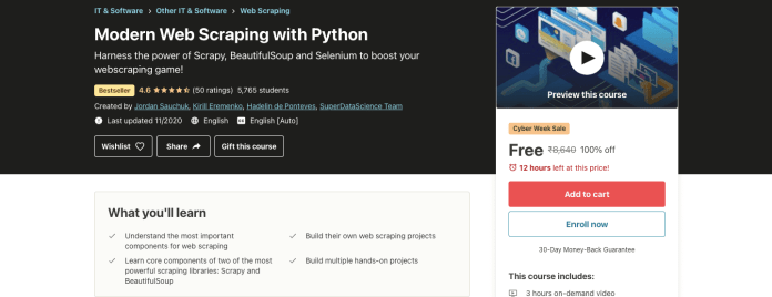 Modern Web Scraping with Python