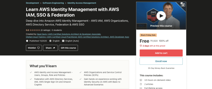Learn AWS Identity Management with AWS IAM, SSO & Federation