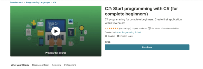 C#: Start programming with C# (for complete beginners)