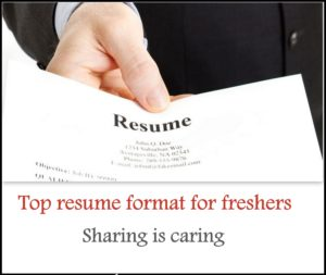 resume 1 sample resume format for freshers free download in 2017