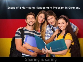 What is the scope of a marketing management program in Germany