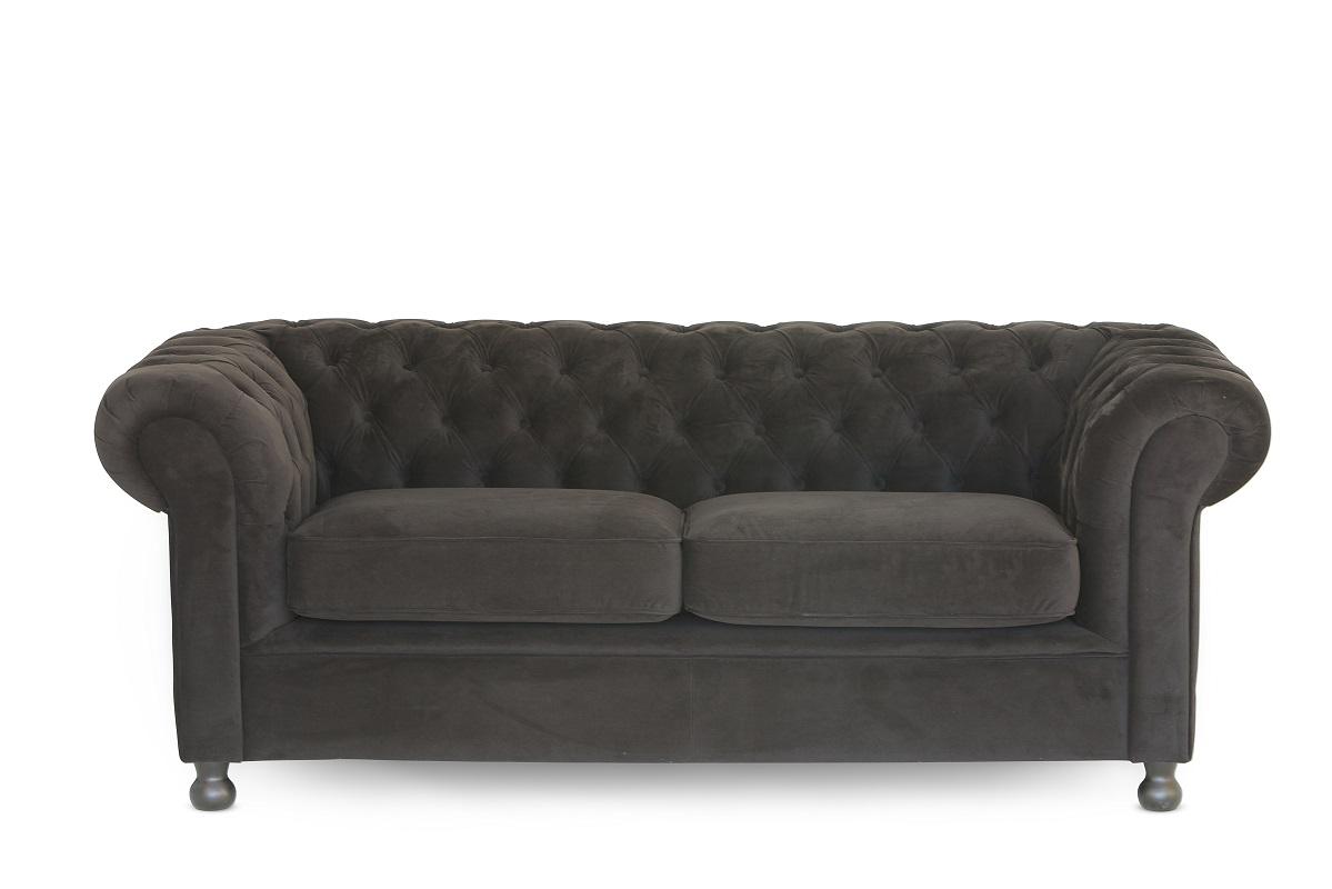 black velvet chesterfield sofa bed sleeper folding foam 2 cushion fresh event hire