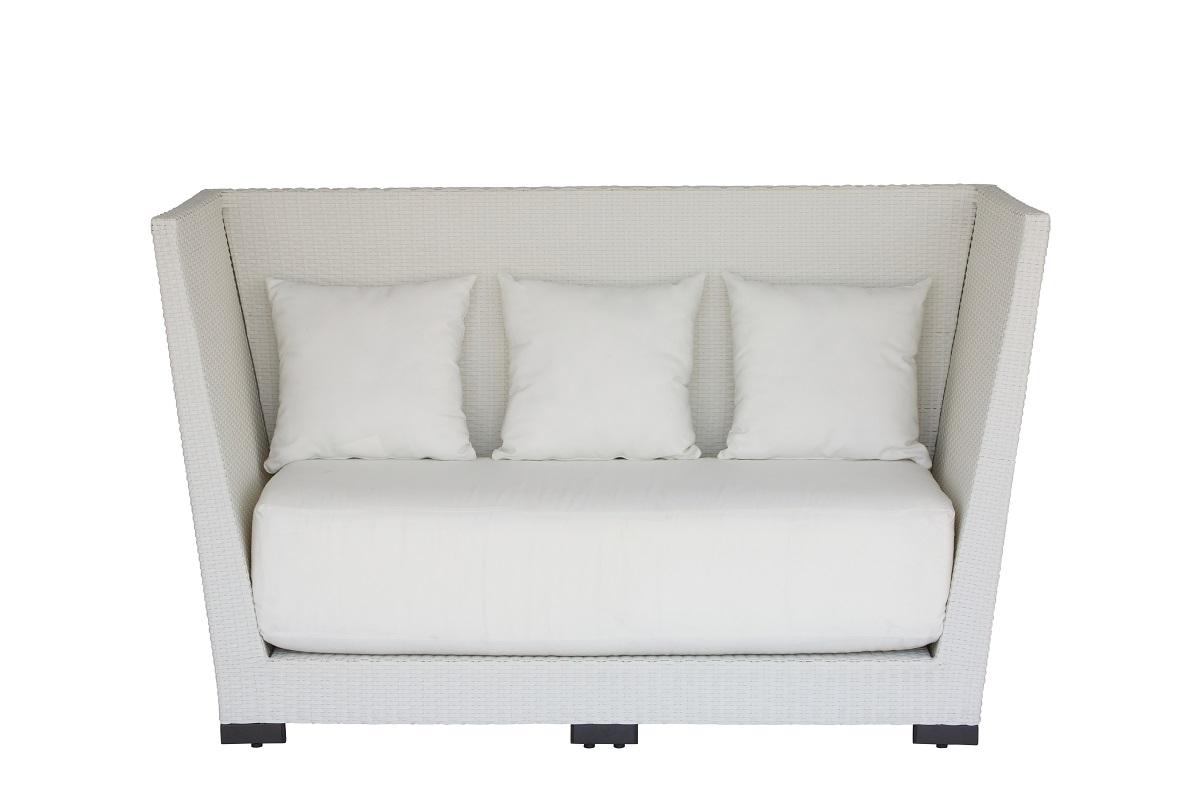 white rattan outdoor sofa club high back fresh event hire