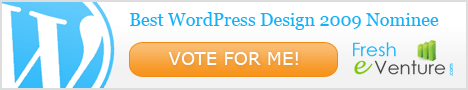 I'm a Best WordPress Design 2009 Contest Nominee!