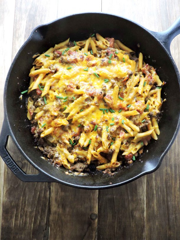 Protein Packed Cheeseburger Casserole