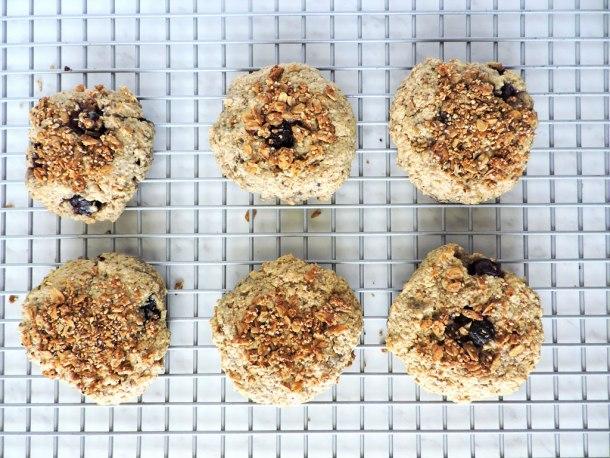 Gluten Free Blueberry Oat Breakfast cookies