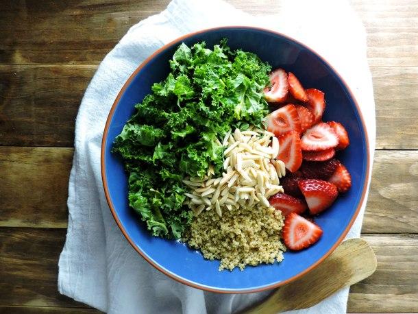 Strawberry Kale Grain Bowl