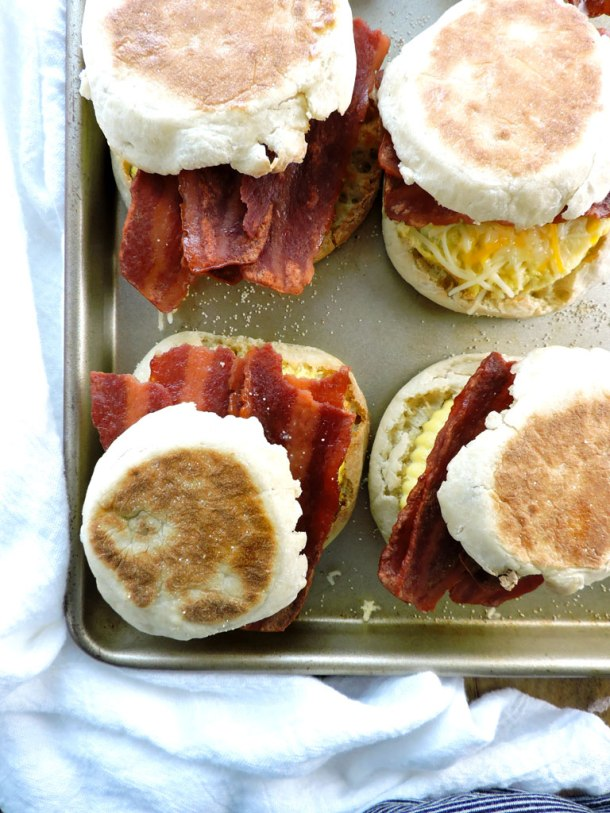Make Ahead Healthy Breakfast Sandwiches
