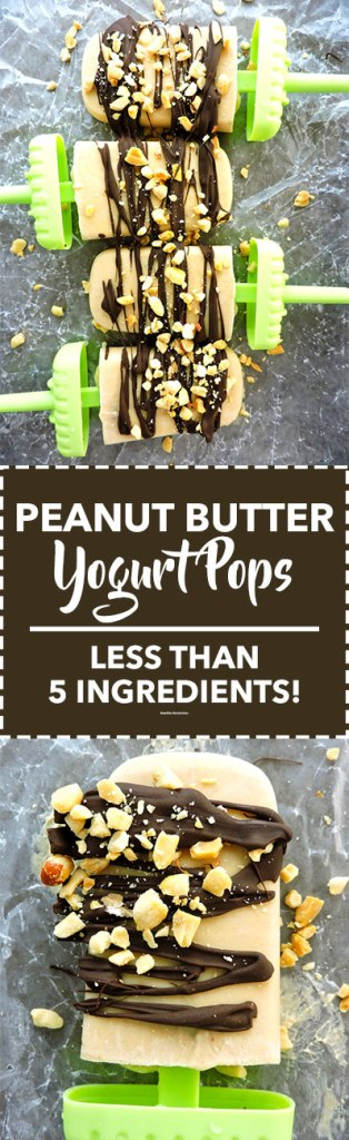 Peanut Butter Yogurt Pops