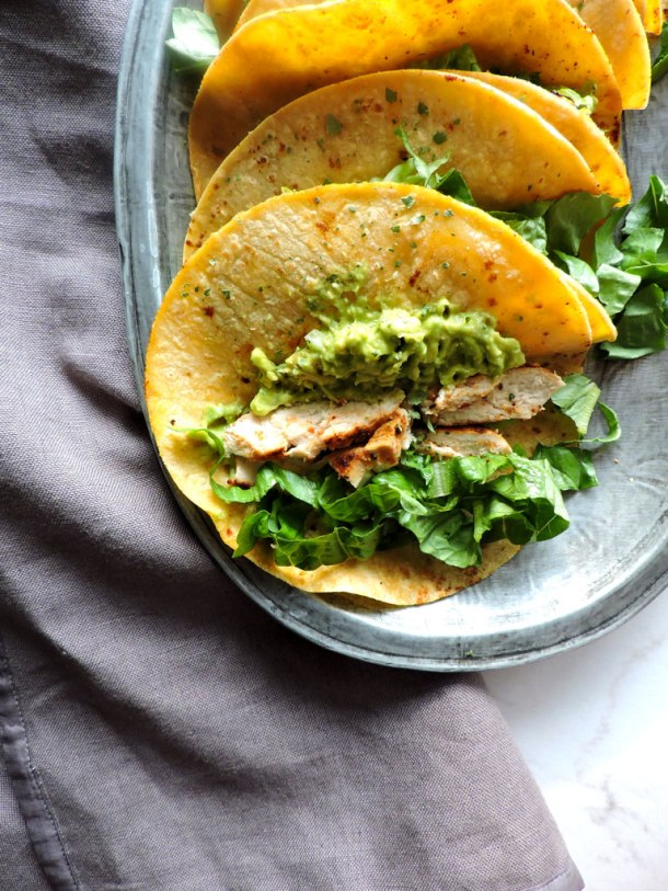 Chili Lime Chicken Street Tacos