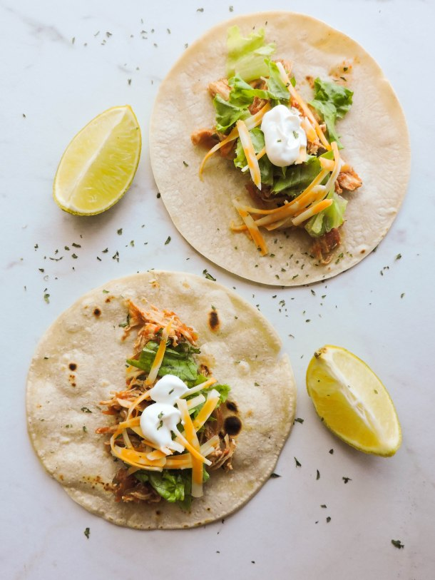 3 Ingredient Instant Pot Chicken Tacos