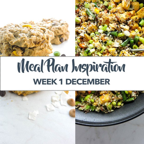 Meal Plan Inspiration Week 1 December
