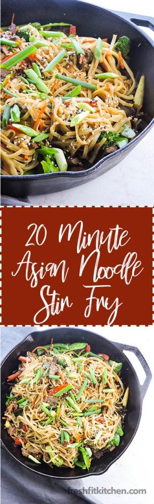 20 Minute Asian Noodle Stir Fry