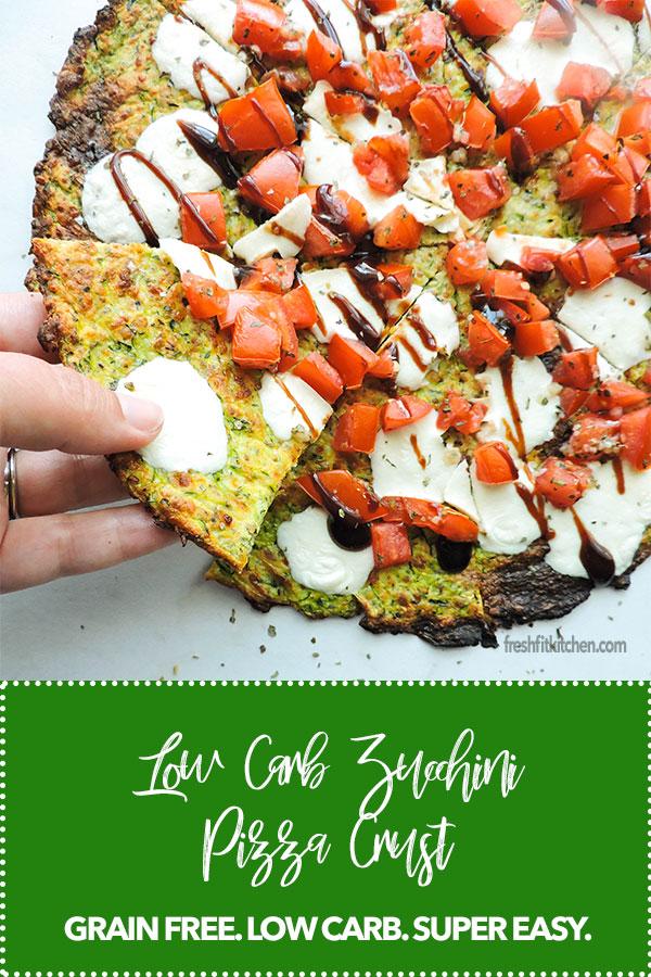 Low Carb Zucchini Pizza Crust Recipe