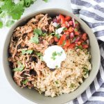 Healthy Slow Cooker Chicken Burrito Bowl
