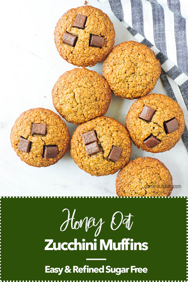 Honey Oat Zucchini Muffins