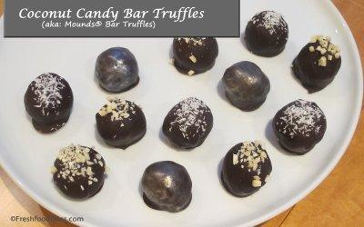 Coconut Candy Bar Truffles