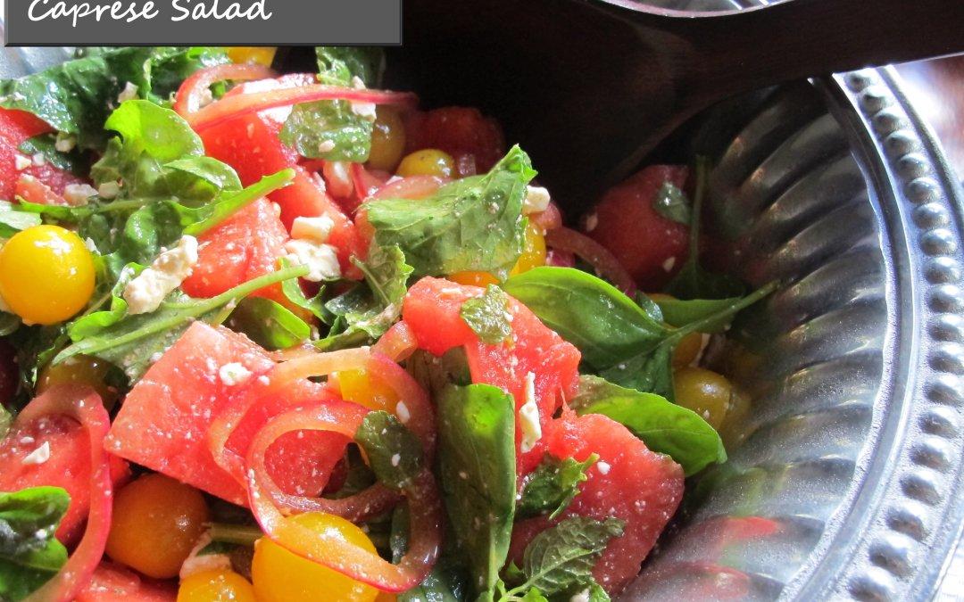 Tomato-Watermelon Caprese Salad