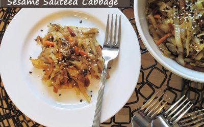 Sesame Sautéed Cabbage ~ Fast with Five Fridays