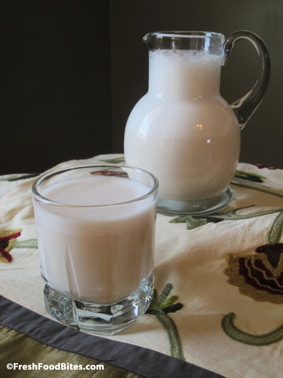 Creamy and sweet homemade vanilla almond milk the whole family will crave!