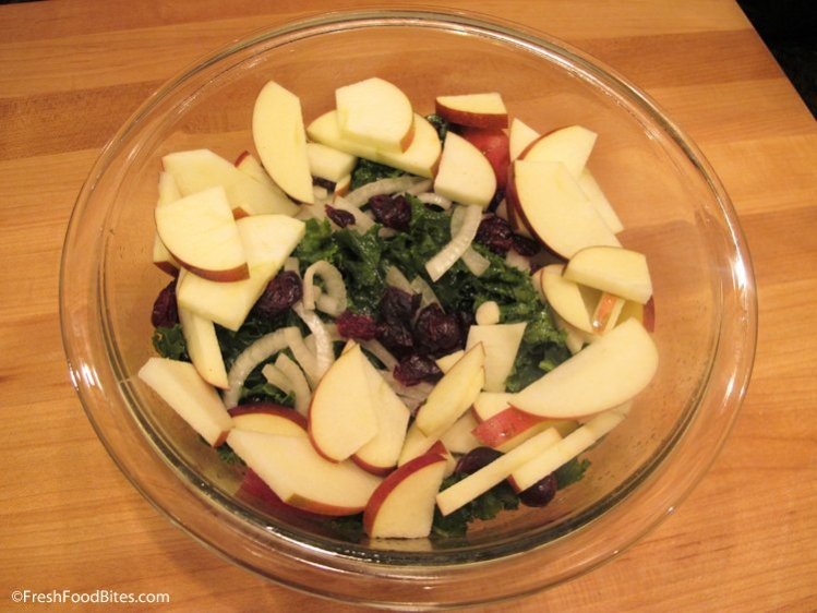 Beautiful and flavorful, this Kale Apple Salad with Honey-Roasted Pecans makes a perfect addition to any holiday meal.
