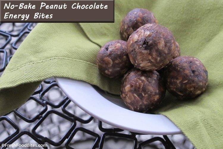 No-Bake Peanut Chocolate Energy Bites