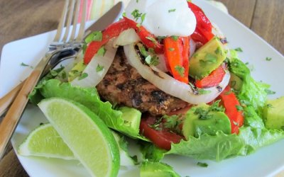 Grilled Fajita Turkey Burgers