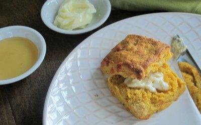 Cheddar-Chive Pumpkin Biscuits