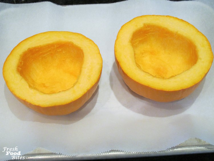 4. Scoop out pumpkin seeds