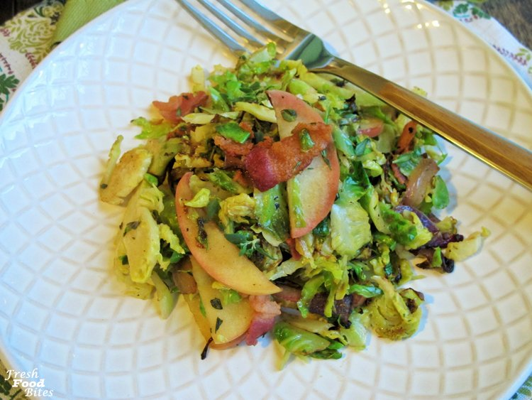 Apple-Bacon Brussels Sprouts Salad